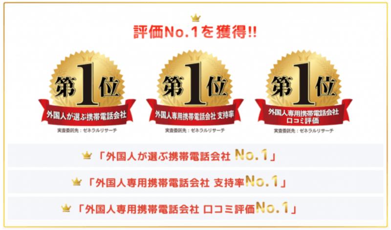 外国人が選ぶ携帯電話会社 No.1 GTN MOBILE